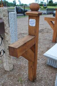 Wood Mailbox Posts