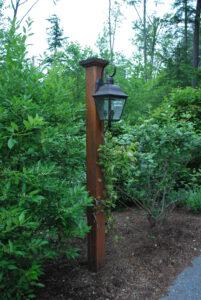 Wood Lamp Post